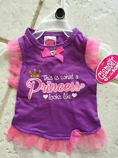 "GLAMOUR TO THE BONE  ""THIS IS WHAT A PRINCESS LOOKS LIKE"" Dress Puppy/Dog small"