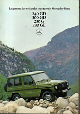 Depliant brochure catalogue MERCEDES 240 300 230 280 GD G GE francais