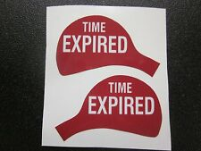 "Duncan Parking Meter Original High Quality Decals ""TIME EXPIRED"" Set Front/back"