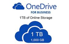 Lifetime 1000 GB 1TB Onedrive for Business Cloud space