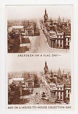 RPPC,Aberdeen,Scotland,U.K.On Flag Day & House-to-House Collection Day,Used,1953