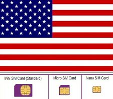 *** Lyca USA, SIM card. STANDARD, MICRO and NANO sim card. United States. ***