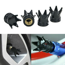 4Pc Crown Car Truck Bike Tire Wheel Air Tyre Valve Stem Dust Caps Cover Rim Set