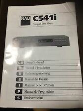 NAD c541i CD Player Proprietari Manuale