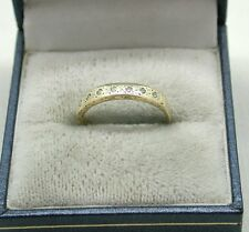 Very Nice 9ct Gold And Diamond Half Eternity Ring