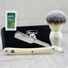 Men's Shaving Straight Razor shaving brush starter kit / set  +FREE 5 BLADE
