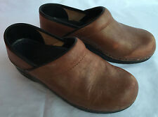 Dansko Professional Gold Leather Support Slip-On Clogs Shoes Women's 7 EUR 37