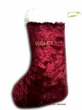 New Personalised Embroidered Luxury Christmas Stocking Gift Handmade Gold