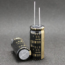 2PCS Japan ELNA 470UF/50V  SILMIC II Series High-END HIFI Audio Capacitor CAP