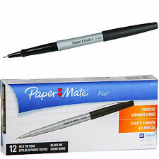 PaperMate Ultra Fine Flair 83301, Black Ink, Box of 12