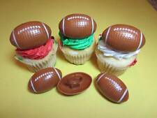 12 Football 3D Rings Cupcake Toppers Cake Decorations Party Favors