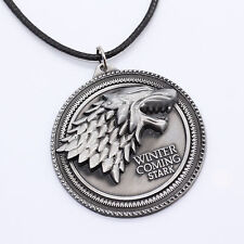 New Game of Thrones House Stark Head 3D Metal Pendant Necklace
