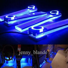 12V Fashion Blue Car Atmosphere Lamp Charge LED Auto Interior Floor Decor Light