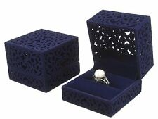 LittleTiger® Pierced Velvet Jewelry Box for ring engagement gift wedding favor