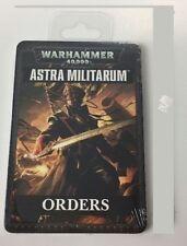 Games Workshop Warhammer 40k Astra Militarium Orders Cards Deck New Sealed OOP