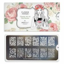 MoYou London FLOWER POWER 16 Collection Stamping Schablone, Paisley XL