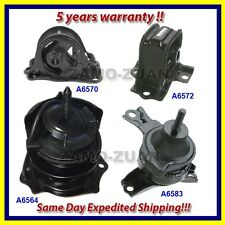 98-99 Honda Accord 2.3L Engine Motor & Trans. Mount Set 4PCS for Auto w/ vacuum