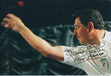 Dennis PRIESTLEY Signed 12x8 Autograph Photo AFTAL COA Darts The Menace