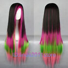 Hot Sell! Lolita Long Multi-Color Mixed Straight Cosplay wig and Wig cap NO:A116