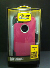 OtterBox Defender Rugged Hard Case w/Holster Belt Clip fo iPhone 5 5S Pink/White