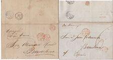 * 1859 2 payé liverpool cachet lettre & emballage > espagne 6d & 1/- les frais d'affranchissement