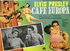 """G.I. BLUES / CAFE EUROPA "" Affiche entoilée (Norman TAUROG / Elvis PRESLEY)"