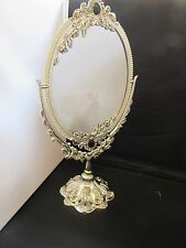 Silver Plated Dressing Table Mirror Silverware Glass Traditional