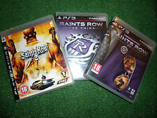 3 PLAYSTATION 3 PS3 GAMES SAINTS ROW 2 SECOND SAINTS ROW THE THIRD 3 + IV FOURTH