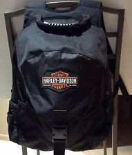 NWOT HARLEY DAVIDSON Black Backpack and Helmet Bag with Bar and Shield Logo NEW