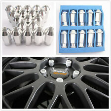 20 Pcs Silver M12 x 1.5MM Aluminum Wheel Tuner Lug Nuts Kit Set For Acura Toyota