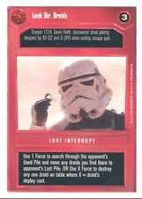 Star Wars CCG WB Premiere Unlimited Look Sir, Droids