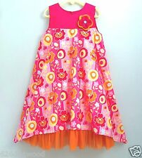 EUC BABY LULU 6X Pop Art Floral Lined Tulle Pageant Retro Mod Easter Party Dress