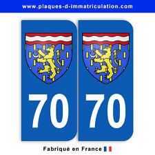 Stickers pour plaque département 70 Haute-Saône (jeu de 2 stickers) blason