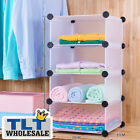 4x1 DIY Storage Cupboard Cabinet Wardrobe Shoe Rack Toy Book Shelf Shelves