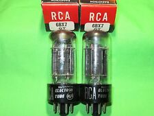 Lot Of 2 NOS RCA 6BX7GT Black Plate D Getter Tubes TV7 Tested