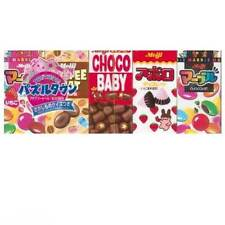 Japanese Candy Sweets Mini Selection Box Assortment Meiji Choco Baby Kawaii Gift