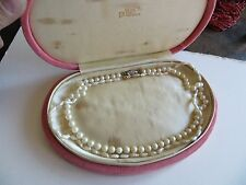 Antique-Cultured/Fresh Water Pearl14 KT-Gold-Clasp-2 necklaces /original box