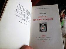 Poésies de Marceline Desbordes-Valmore. Relié, tirage 1000 ex.