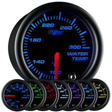 52mm GlowShift Black 7 Water Temp Temperature °F Gauge w. 7 Color Display