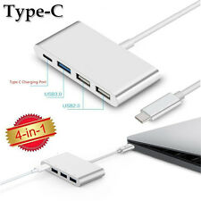 Type-C to Type-C and 3 USB Ports 5Gbps HUB Adapter for New MacBook Pro 2016