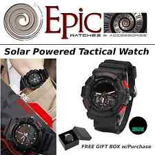 EPIC Solar Powered Tactical Watch Camping Hiking