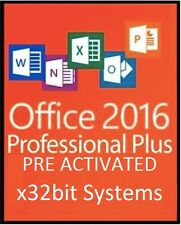 MICROSOFT OFFICE 2016 Pro Plus x32bit - WORD,POWERPOINT,EXCEL,OUTLOOK,ACCESS