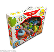 Baby Fashionable Soft Coloured Bed Cot Bell & Walker Toy Design Toddler Play Fun