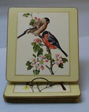 (6) VTG Saks Fifth Ave Lacquer Placemats Audubon style BIRDs - AmTR  Lady Clare