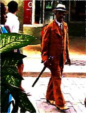 Local Cuban Man in Havana, Cuba. Original Photograph with Artistic Effects.