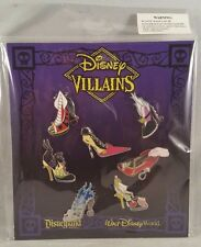Disney Pin Disney Villain Shoes Mini Pin Set 7 Pin Booster Pack