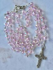 Rosary Beads Absolutely stunning Luxurious glass Crystal Faceted Handmade gift