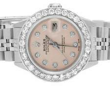 Ladies Rolex Stainless Steel 26MM Datejust Jubilee Pink Dial Diamond Watch 2.5Ct