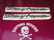 DAYTONA TRIPLE FUEL INJECTION CUSTOM GRAPHICS DECALS STICKERS