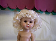 WIG FOR GINNY DOLL  CENTER-PART WITH CURLS AND BOWS PALE BLONDE